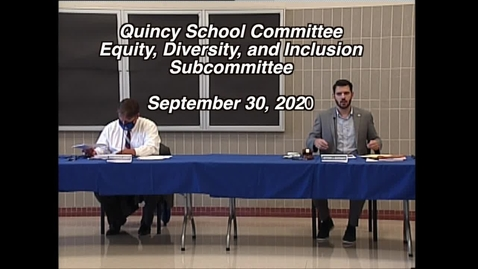 Thumbnail for entry EDI Sub CommitteeSept 30, 2020