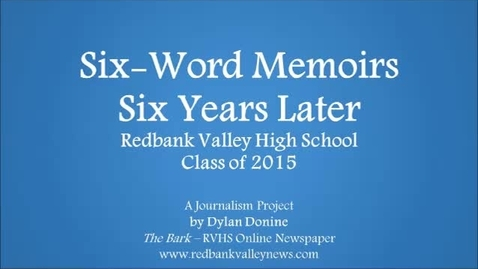 Thumbnail for entry Six-Word Memoirs Six Years Later