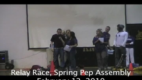 Thumbnail for entry Relay Race, Spring Pep Assembly
