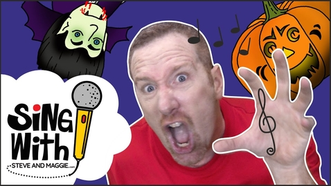 Thumbnail for entry Halloween Trick or Treat party songs | Songs for kids | Sing with Steve and Maggie