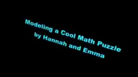 Thumbnail for entry Hannah and Emma's Model Puzzle