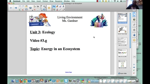 Thumbnail for entry 3.g Energy in an Ecosystem