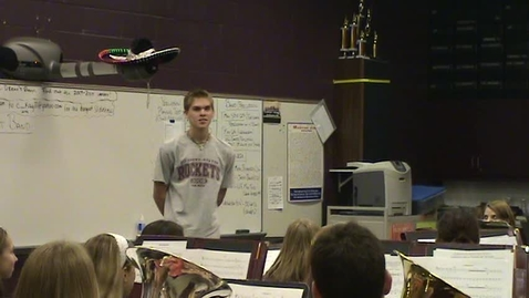 Thumbnail for entry Scott Menefee (Drum Major) Conducting Video MENC All American Marching Band 2009