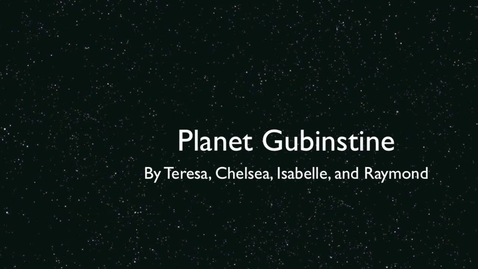 Thumbnail for entry Planet Gubenstine