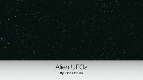 Thumbnail for entry Chris Bruns UFO movie