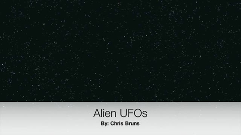 Thumbnail for entry Chris Bruns UFO movie