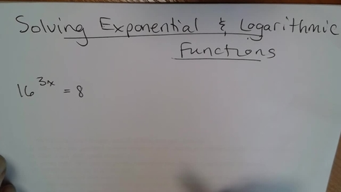 Thumbnail for entry AdvMth BD E06 (TSW 7) Solve Exponential & Logarithmic Functions
