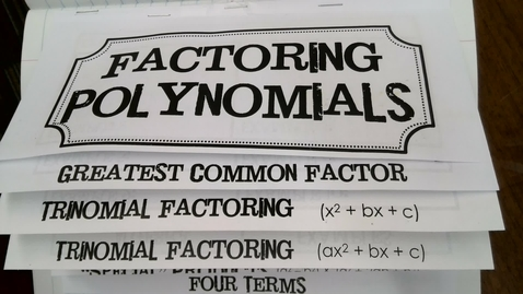Thumbnail for entry Factoring Trinomials ax2+bx+c part 1