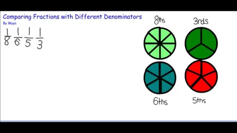Thumbnail for entry Comparing Fractions with Unlike Denominators