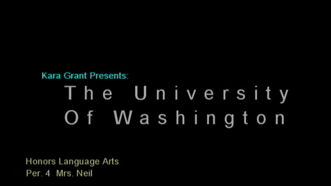 Thumbnail for entry University of Washington Presentation by Kara Grant