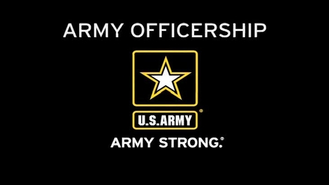 Thumbnail for entry Army Education Podcast - Officership
