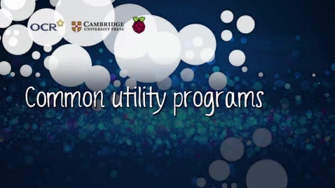 Thumbnail for entry Common utility programs - Part A