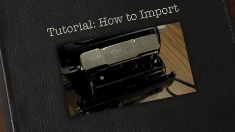 Thumbnail for entry Importing Your miniDV Footage With iMovie
