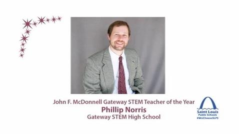 Thumbnail for entry SLPS STEM Teacher of the Year,  Phillip Norris