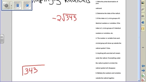 Thumbnail for entry Simplifying radicals example 8