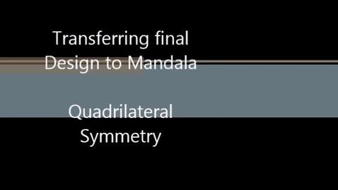 Thumbnail for entry transferring to good paper mandala