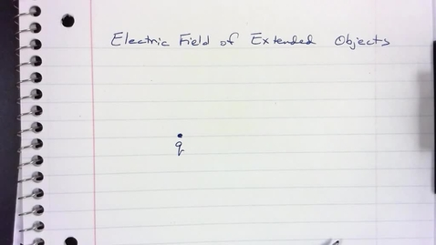 Thumbnail for entry Electric Field of Extended Objects
