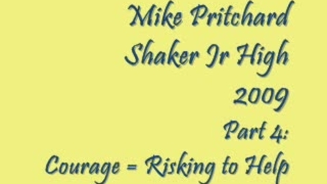 Thumbnail for entry Mike Pritchard @ Shaker Jr High Part 4