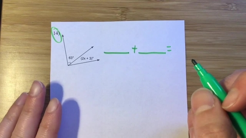 Thumbnail for entry Complementary and Supplementary Angles