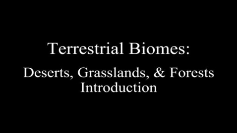 Thumbnail for entry Biomes | Biology | Ecology