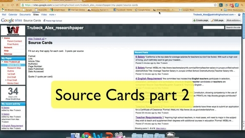 Thumbnail for entry Source Cards part 2