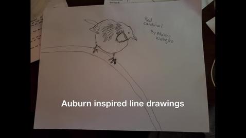 Thumbnail for entry Auburn inspired line drawings 3/22/20
