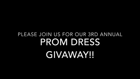 Thumbnail for entry Prom Dress Givaway