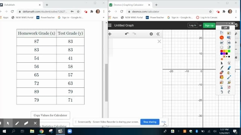 Thumbnail for entry Desmos best fit line