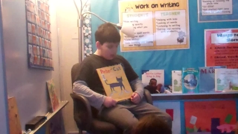 Thumbnail for entry Sam reads to the class