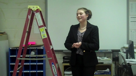 Thumbnail for entry Spring 2012 -- Using a Prop to Teach a Lesson -- Jessica Grandas -- Mr. Gilbert's class