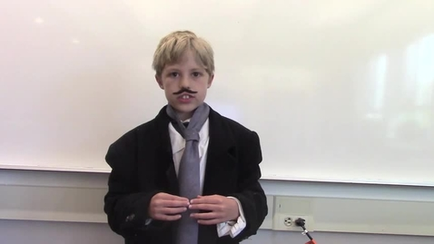 Thumbnail for entry 2017 - 4th Grade Wax Museum - Maddox is Tesla