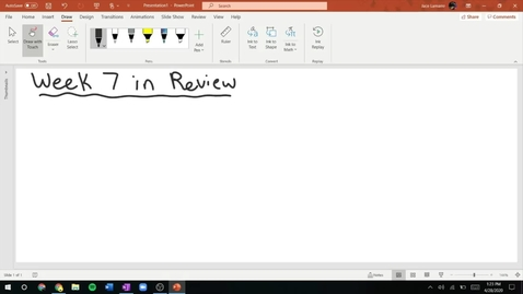 Thumbnail for entry Week 7 in Review!