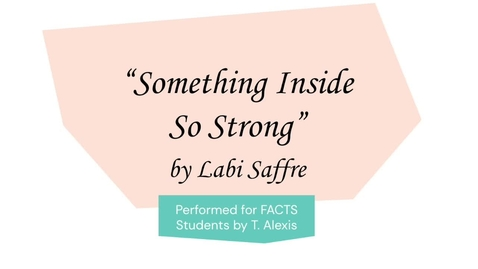 Thumbnail for entry Something Inside So Strong