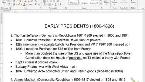 Thumbnail for entry APUSH Review 4: Early Pres