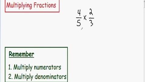 Thumbnail for entry Multiplying Fractions