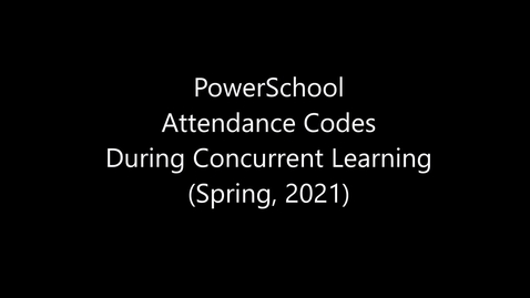 Thumbnail for entry Attendance Codes Spring 2021