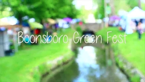 Thumbnail for entry Middletown students volunteer at the Boonsboro Green Fest
