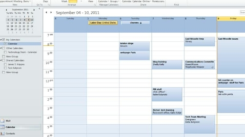 Thumbnail for entry Share Contacts and Calendars in Outlook 2010