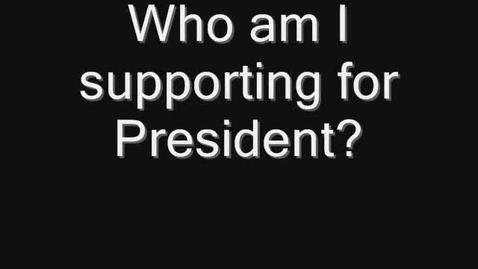 Thumbnail for entry Endorsement for President