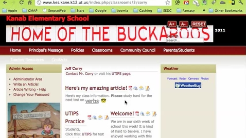 Thumbnail for entry Adding Images to your Articles on your School Joomla Site - JCE Editor