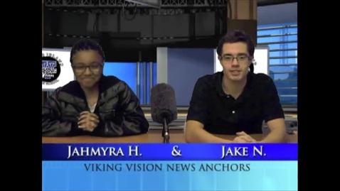 Thumbnail for entry Viking Vision News Monday 11-17-2014