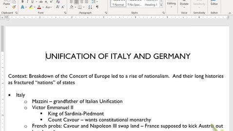 Thumbnail for entry Euro Review 12: Unification and Imperialism