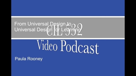 Thumbnail for entry Universal Design For Learning: An overview of UDL