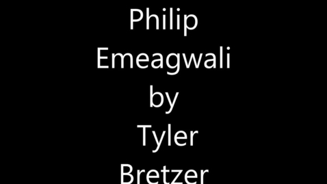 Thumbnail for entry Philip Emeagwali - Engineer