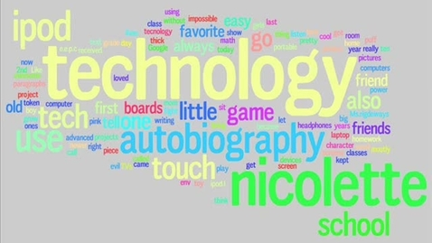 Thumbnail for entry Nicolette Technology Autobiography