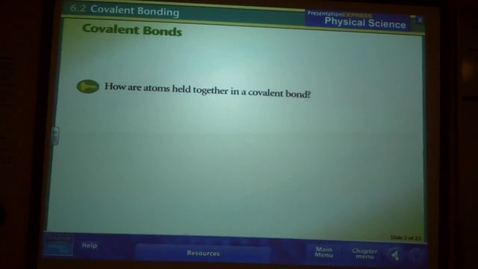Thumbnail for entry Covalent Bonding