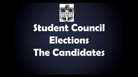 Thumbnail for entry Student Council Elections Final