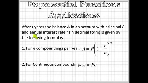 Thumbnail for entry Calculating Compound Interest
