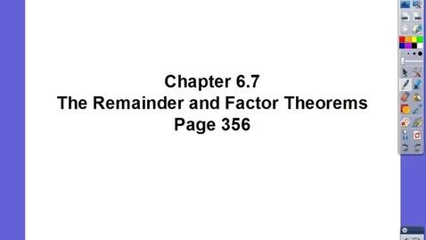 Thumbnail for entry Algebra II Ch 6.7