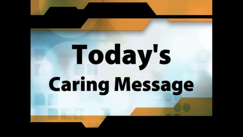 Thumbnail for entry Robert Ahmad caring message